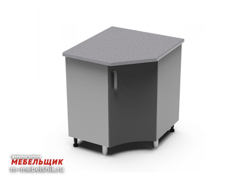 Угловой рабочий стол 850х850 радиусный