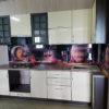 Кухонный гарнитур бежевый из пластика